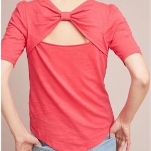 Anthro Meadow Rue bow back top size XS // U16